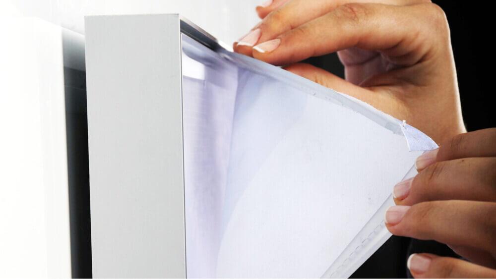 montaż kasetonów textil